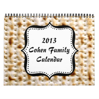 Calendario de pared judío del Matzo del