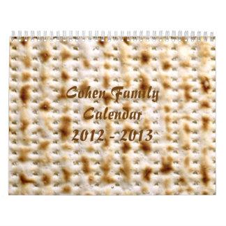¡Calendario de pared judío del Matzo, personalizar Calendario