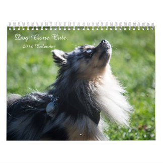 Calendario de pared lindo ido perro 2016