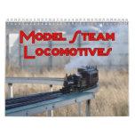 Calendario de pared modelo de las locomotoras de v