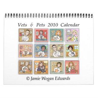 Calendario de pared profesional veterinario 2010