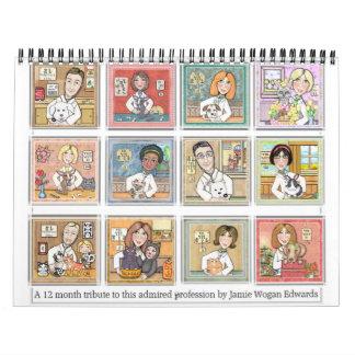 Calendario de pared profesional veterinario 2011
