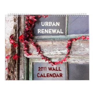 Calendario de pared rústico urbano de la hiedra 20