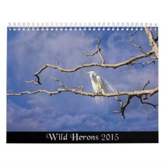 Calendario de pared salvaje de la naturaleza de 20