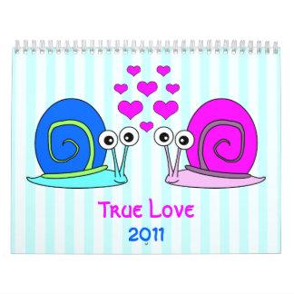 Calendario de pared verdadero del amor 2011