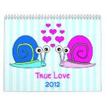 Calendario de pared verdadero del amor 2012