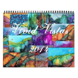 Calendario de pared vivo de los Vistas 2014