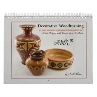 Calendario de pared - Woodturning decorativo