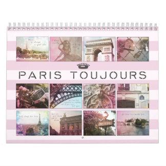 Calendario de París Toujours