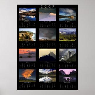 Calendario de Photograpy de 2007 paisajes Posters