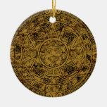 Calendario de piedra maya azteca envejecido de Sun Ornamente De Reyes