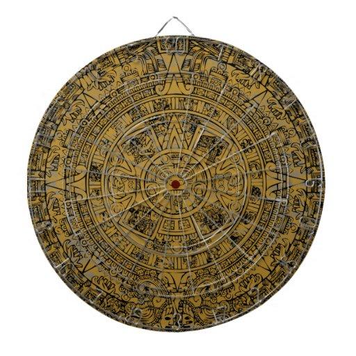 Calendario de piedra maya azteca envejecido de Sun Tablero De Dardos