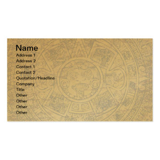Calendario de piedra maya azteca envejecido de Sun Plantilla De Tarjeta De Negocio