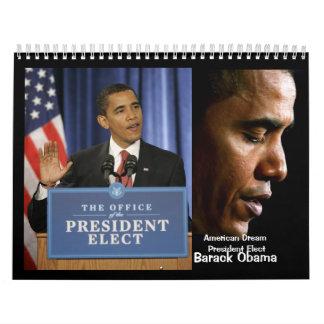 Calendario de presidente electo Barack Obama
