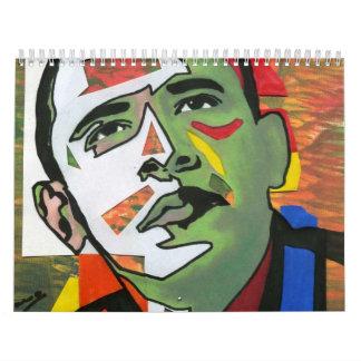 Calendario de presidente Obama PRINT