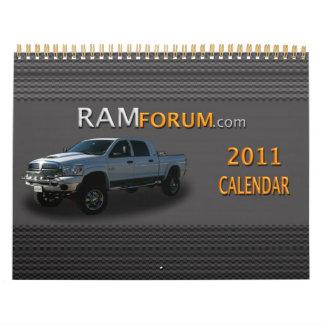 calendario de Ramforum com 2011