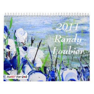 Calendario de Randy Loubier 2011 con escritura