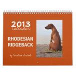Calendario de Rhodesian Ridgeback
