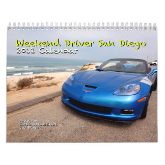 Calendario de San Diego 2011 del conductor del fin