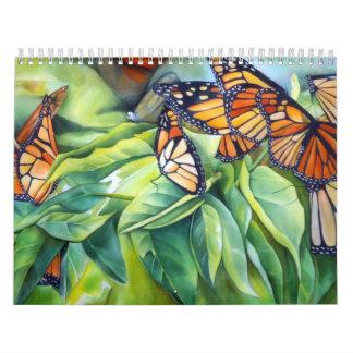 Calendario de seda 2014 del arte de Tina