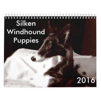 calendario de seda de 4 2016 perritos de Windhound