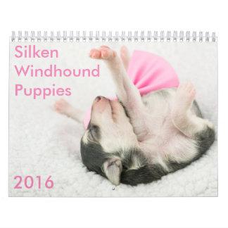 calendario de seda de 5 2016 perritos de Windhound