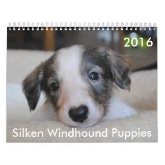 calendario de seda de 7 2016 perritos de Windhound