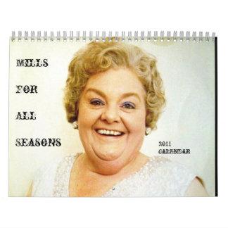 Calendario de señora Mills' 2011
