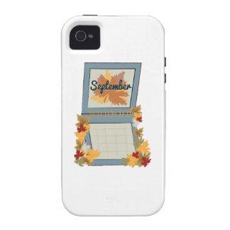 Calendario de septiembre Case-Mate iPhone 4 carcasa