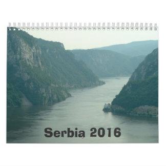 Calendario de Serbia - 2016