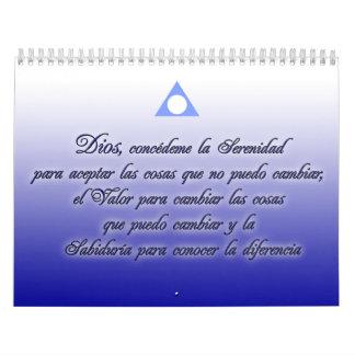 Calendario de Serenidad y lemas de Al Anon Calendar