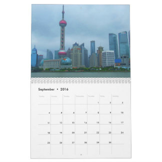 Calendario de Shangai China 2016