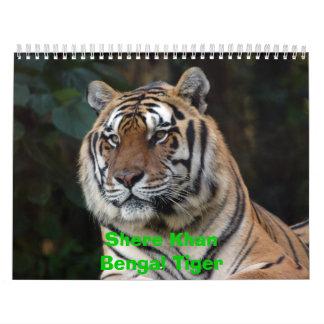 Calendario de Shere Khan tigre de Shere KhanBenga