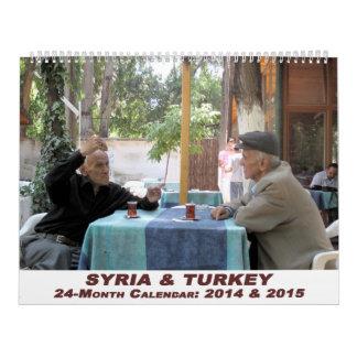 Calendario de Siria y de Turquía - 24 meses