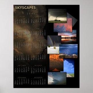 Calendario de Skyscapes 2005 Impresiones