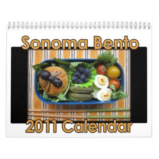 Calendario de Sonoma Bento 2011