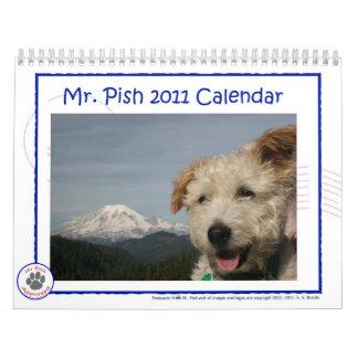 Calendario de Sr. Pish 2011
