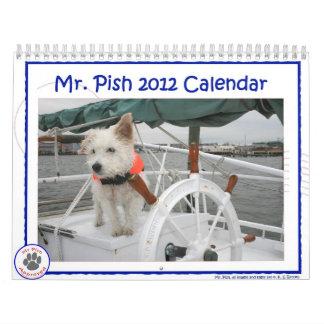 Calendario de Sr. Pish 2012
