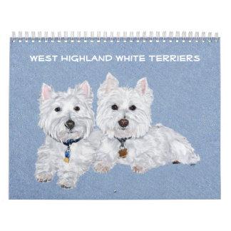 CALENDARIO de Terrier blanco de montaña del oeste
