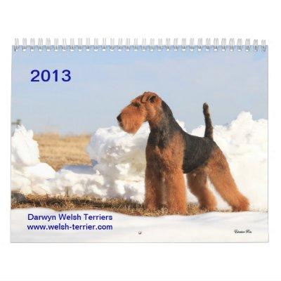 Calendario de Terrier galés 2013 por Darwyn