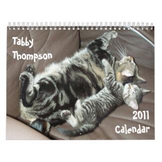 Calendario de Thompson 2011 del Tabby