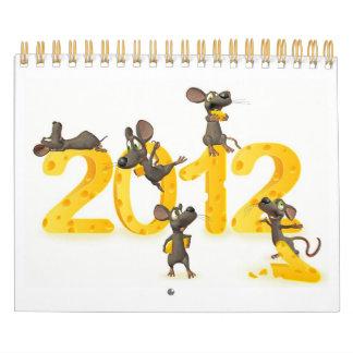 calendario de Toon apenas con los ratones divertid