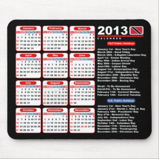 Calendario de Trinidad and Tobago 2013 Tapete De Ratones