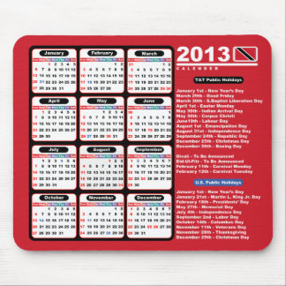Calendario de Trinidad and Tobago 2013 Alfombrilla De Raton