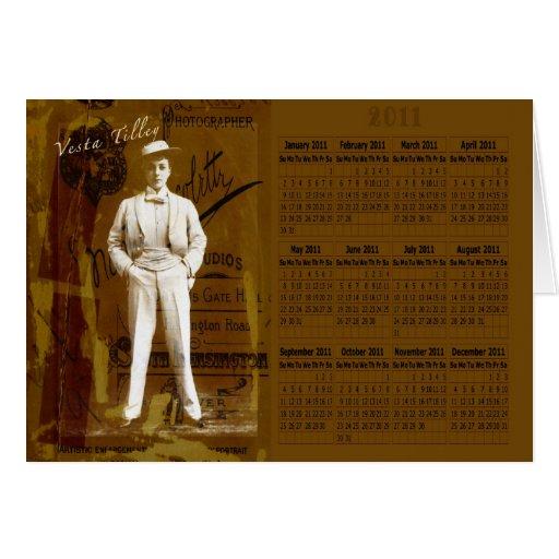Calendario de Vesta Tilley 2011 Tarjeton