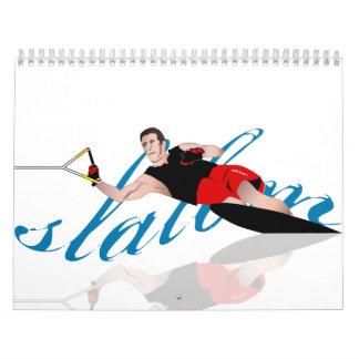 Calendario de Waterski del eslalom