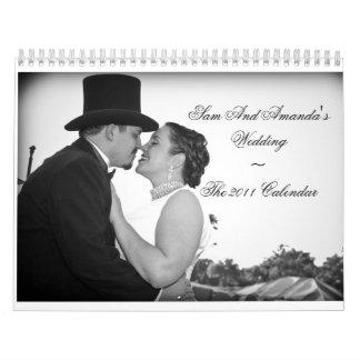 Calendario de Wedding~The 2011 de Sam y de Amanda
