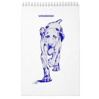 Calendario de Weimaraner por Candra
