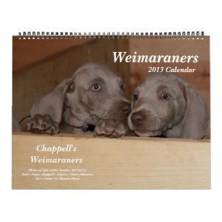 Calendario de Weimaraner