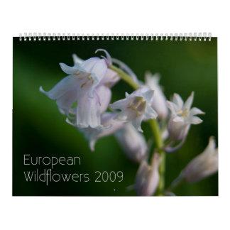 Calendario de Wildfowers 2009 del europeo